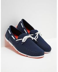 Swims - Mens Breeze Lace Loafers Navy - Lyst