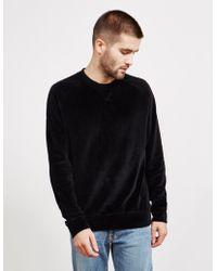 HUGO - Mens Velvet Sweatshirt Black - Lyst