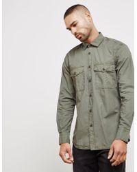 BOSS - Mens Rebus Double Pocket Long Sleeve Overshirt Khaki/khaki - Lyst