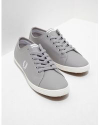 Fred Perry | Mens Kingston Leather Grey, Grey | Lyst