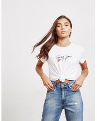 Tommy Hilfiger - Womens Star Script Short Sleeve T-shirt White - Lyst