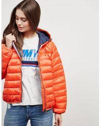 abd65104 Tommy Hilfiger - Short Padded Jacket Orange - Lyst