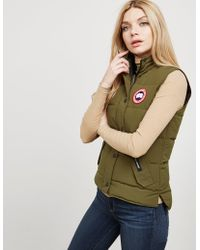 Canada Goose - Womens Freestyle Padded Gilet Green - Lyst