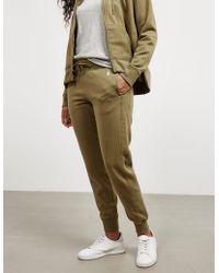 Polo Ralph Lauren - Womens Cuffed Track Trousers Green - Lyst