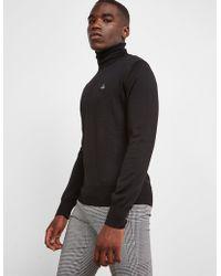 5b05f4dd52234 Vivienne Westwood - Turtle Neck Knitted Jumper Black - Lyst
