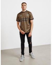 BBCICECREAM - Mens Leopard Soccer Jersey Short Sleeve T-shirt Brown - Lyst