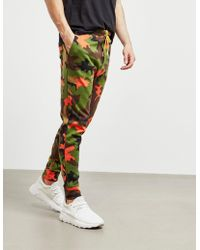 Polo Ralph Lauren - Mens Camouflage Fleece Trousers Orange - Lyst