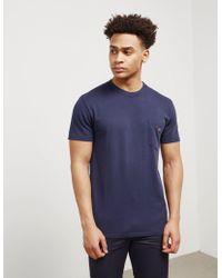 Maison Kitsuné - Mens Venice Pocket Short Sleeve T-shirt Blue - Lyst