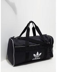 adidas Originals - Mens Trefoil Duffel Bag Black/black - Lyst