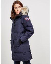Canada Goose - Womens Shelburne Padded Parka Jacket Blue - Lyst