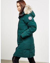 Canada Goose - Womens Shelburne Padded Parka Jacket Green - Lyst