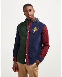 Polo Ralph Lauren Cut And Sew Bear Long Sleeve Shirt Red