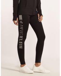 Calvin Klein - Womens Leggings Black - Lyst
