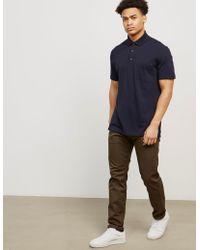 Z Zegna - Mens Pocket Short Sleeve Polo Shirt Navy Blue - Lyst