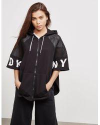 DKNY - Womens Full Zip Poncho Jacket - Online Exclusive Black - Lyst