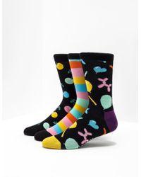 Happy Socks - 3-pack Happy Birthday Music Box Socks Black - Lyst