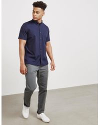 PS by Paul Smith - Mens Oxford Short Sleeve Shirt Navy Blue - Lyst