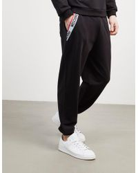 Moschino - Mens Tape Cuffed Track Trousers Black - Lyst