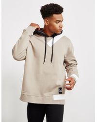 Fred Perry - Mens X Raf Simons Overhead Tape Hoodie Grey - Lyst