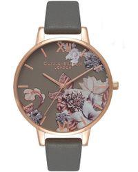 Olivia Burton - Marble Floral Watch - Lyst