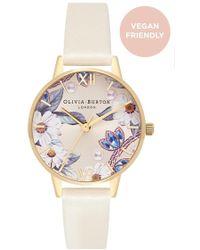 Olivia Burton - Bejewelled Floral Vegan Friendly Midi Watch - Lyst