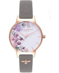 Olivia Burton - Enchanted Garden 3d Embellished Strap Watch - Lyst