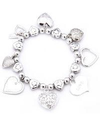 ChloBo - Multi Hearts Charm Bracelet - Lyst
