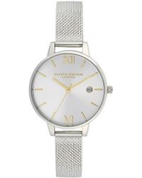 Olivia Burton - Sunray Demi Dial Watch With Boucle Mesh - Lyst