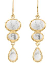 Anna Beck - Howlite Multi Stone Drop Earrings - Lyst