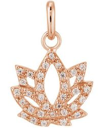 Kirstin Ash - Bespoke Crystal Lotus Charm - Lyst