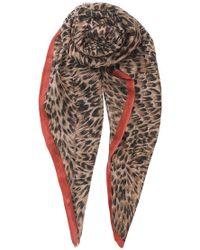 Becksöndergaard - Emira Leopard Print Scarf - Lyst