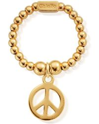 ChloBo - Mini Ball Peace Ring - Lyst