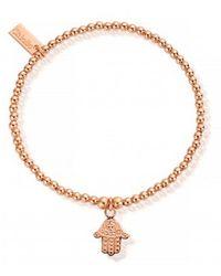 ChloBo - Cute Charm Bracelet With Hamsa Hand - Lyst