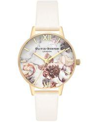 Olivia Burton - Marble Florals Midi Dial Watch - Lyst