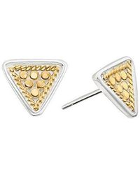 Anna Beck - Triangle Stud Earrings - Lyst