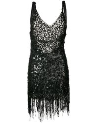 Attico - Sequins Dress With Fringes - Lyst