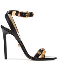 Versace - Black Medusa Medal 110 Leather Sandals - Lyst