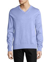 Nautica - Classic V-neck Sweater - Lyst