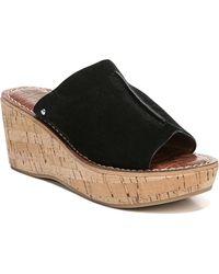 Sam Edelman - Ranger Cork Wedge Sandals - Lyst