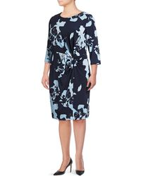 INC International Concepts | Plus Printed Twist Front Dress | Lyst