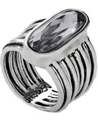 Uno De 50 - Swarovski Crystal And Silver Ring - Lyst