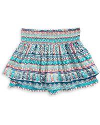 Material Girl - Southwestern Smocked Skirted Shorts - Lyst