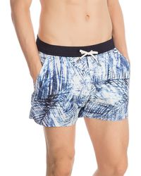 Guess - Woven Printed Short Swim Trunks - Lyst