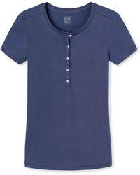 Schiesser - Mix & Relax Pyjama-shirt Met Knoopjes - Lyst