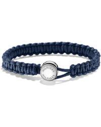 Tommy Hilfiger - Tj Anchor Macrame Bracelet Navy - Lyst