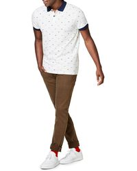 Esprit | Printed Cotton Polo Shirt | Lyst