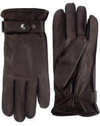 Black Brown 1826 - Cashmere-lined Deerskin Leather Gloves - Lyst