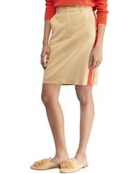 Polo Ralph Lauren | Striped Stretch Twill Skirt | Lyst