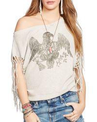 Denim & Supply Ralph Lauren   Sleeveless Fringed Sweatshirt   Lyst