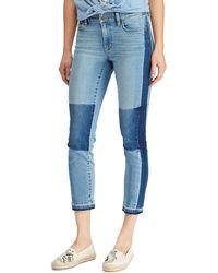 Lauren by Ralph Lauren | Premier Straight Patch Crop Jeans | Lyst